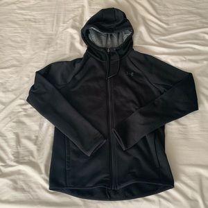 UNDER ARMOUR Black Zipup Hoodie Jacket (Cold Gear)